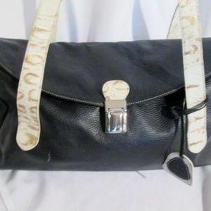 f78a4509694 PETUSCO SPAIN pebbled leather handbag shoulder bag